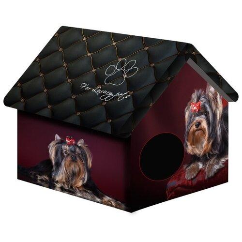 Домик для собак и кошек PerseiLine Йорк 33х33х40 см черный