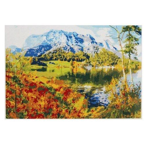 Фото - Рыжий кот Картина по номерам Озеро в горах 30х40 см (Х-9050) рыжий кот картина по номерам маяк на море 30х40 см х 0412