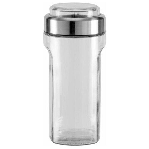 Фото - Nadoba банка для сыпучих продуктов с мерным стаканом Petra 1.55 л прозрачный/серебристый банка для сыпучих продуктов nadoba 741111