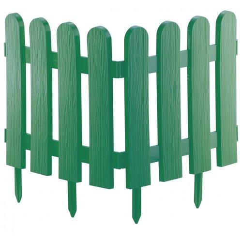 Забор декоративный PALISAD Классика, зеленый, 2.24 х 0.29 м
