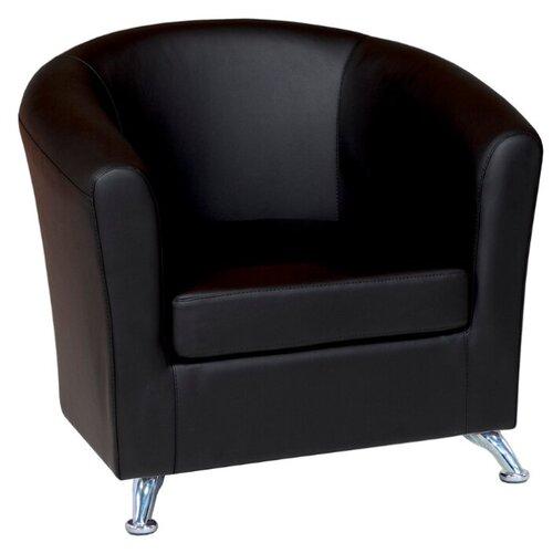 Классическое кресло Шарм-Дизайн Евро размер: 80х79 см, обивка: искусственная кожа, цвет: черный 2