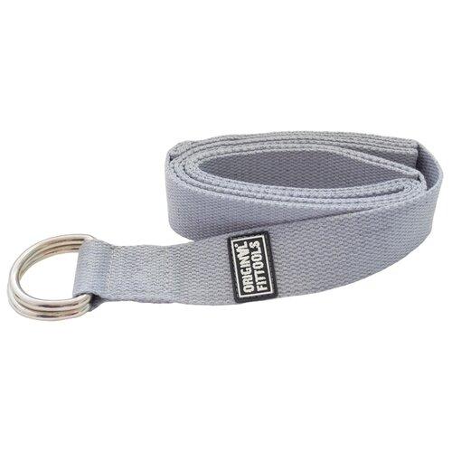 Ремень для йоги Original FitTools FT-YSTP-GREY серый