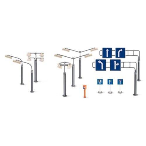 Купить Siku Фонари и знаки 5594 серый/синий, Детские парковки и гаражи