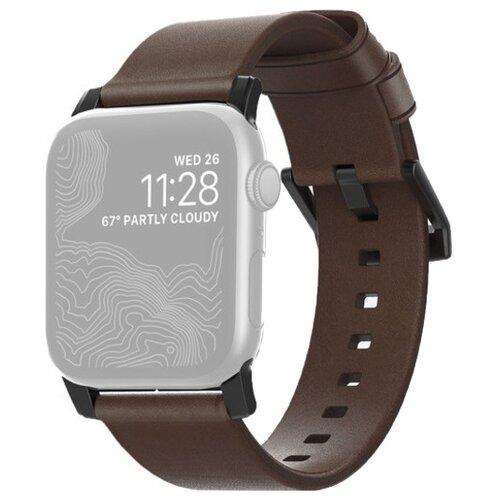 Nomad Ремешок Modern для Apple Watch 42/44 мм темно-коричневый/черный