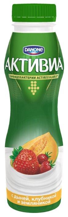 Питьевой йогурт Активиа дыня, клубника, земляника 2%, 290 г