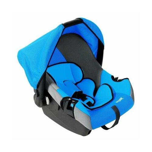 Автокресло-переноска группа 0+ (до 13 кг) Siger Эгида Люкс, синий автокресло группа 1 2 3 9 36 кг little car ally с перфорацией черный