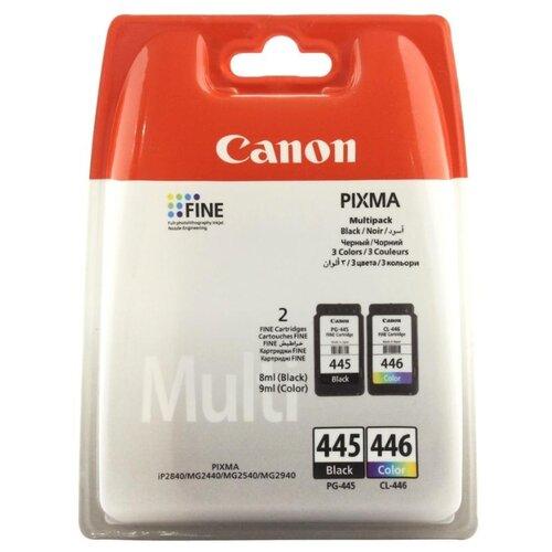 Картридж ориг. Canon PG-445 черный/CL-446 цветной для Canon PIXMA MG2440/MG2540 комбинирован. упаков, цена за штуку, 300353