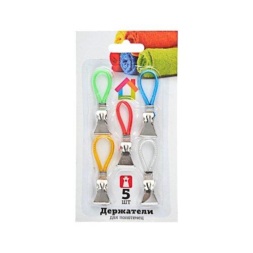 Florento прищепки 444-147 5 шт. белый/зеленый/голубой/красный/желтый