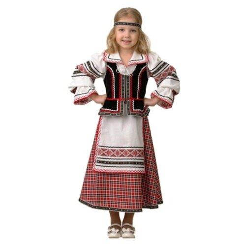 Купить Костюм Батик национальный для девочки (5600), красный/белый, размер 140, Карнавальные костюмы