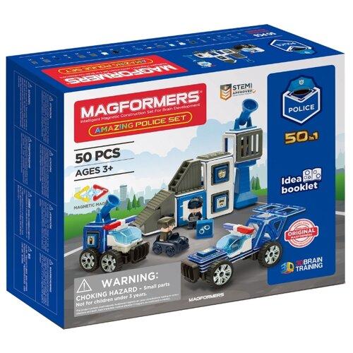 цена Магнитный конструктор Magformers Amazing 717002 Police Set онлайн в 2017 году