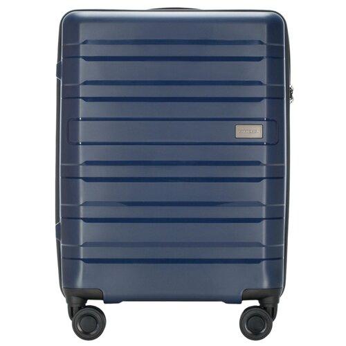 Чемодан WITTCHEN PP Matte Stripes 56-3T-751-90 35 л, темно-синий чемодан airport 78 см темно синий 4 колеса