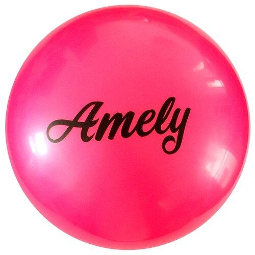 Мяч для художественной гимнастики Amely AGB-101 19 см розовый