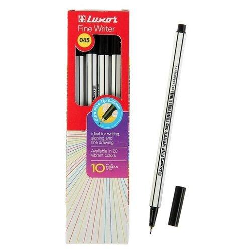 Фото - Luxor Набор капиллярных ручек Fine Writer 045, 0.8 мм, 10 шт, черный цвет чернил luxor набор капиллярных ручек luxor mini fine writer 045 20 цветов