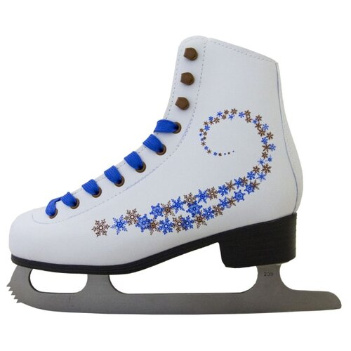Фигурные коньки Novus AFSK-20 белый/синий/сине-коричневые звезды р. 39 по цене 2 001