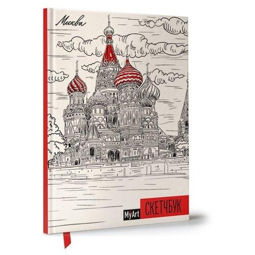 Купить Скетчбук Prof-Press Москва 21 х 14.8 см (A5), 100 г/м², 80 л., Альбомы для рисования