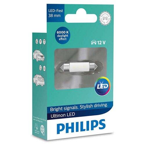 Фото - Лампа автомобильная светодиодная Philips Ultinon LED 11854ULWX1 12V 1 шт. лампа автомобильная светодиодная philips ultinon led 11972ulwx2 led hl [h7] 14w 2 шт