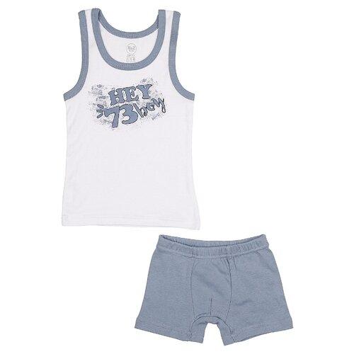 Купить Комплект нижнего белья RuZ Kids размер 128-134, белый/серый, Белье и пляжная мода