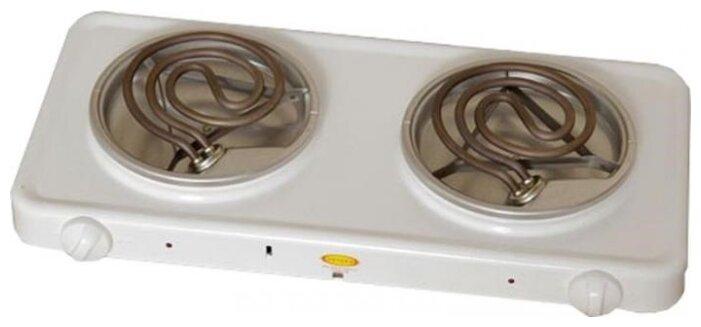 Купить Плитка электрическая 2-конфорочная ЭПТ-2/220 (Пскова) белая по низкой цене с доставкой из Яндекс.Маркета
