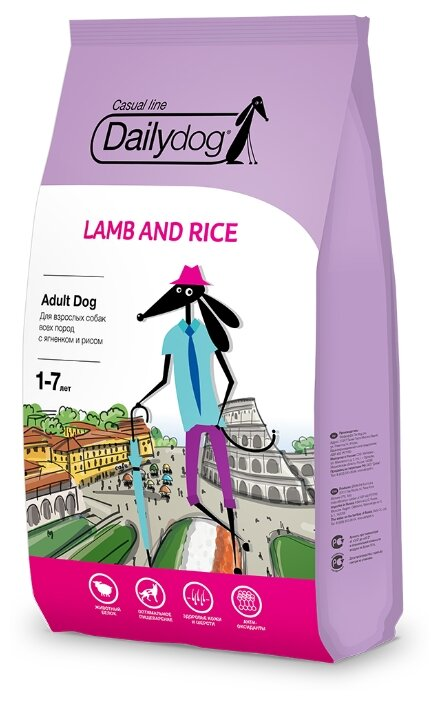 Корм для собак Dailydog Adult Lamb and Rice