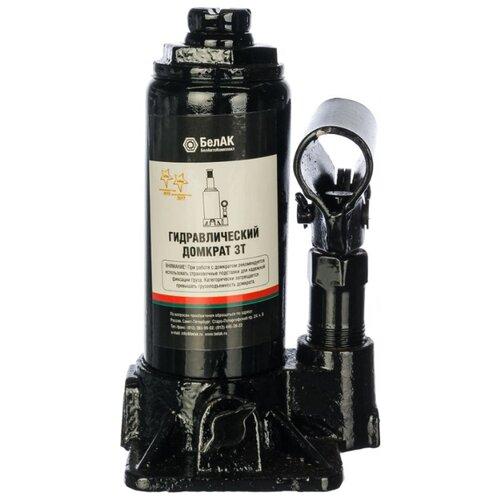 Домкрат бутылочный гидравлический БелАвтоКомплект БАК.00040 (3 т) черный
