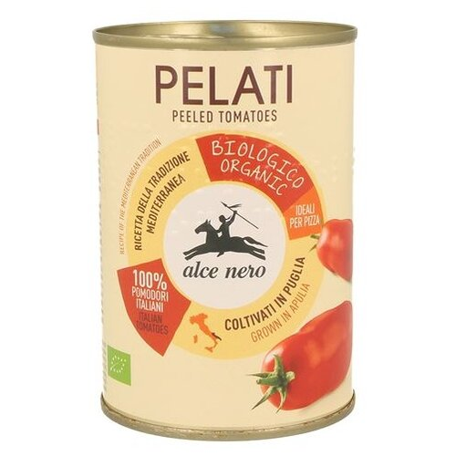 томаты очищенные резаные в томатном соке bioitalia 400 г Томаты очищенные в томатном соке Alce Nero, 400 г