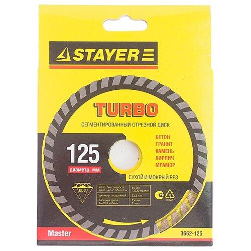 Диск алмазный отрезной STAYER Master 3662-125, 125 мм 1 шт.