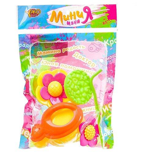 Купить Набор Yako Мини Мания Г93795 зеленый/желтый/оранжевый/розовый, Наборы в песочницу