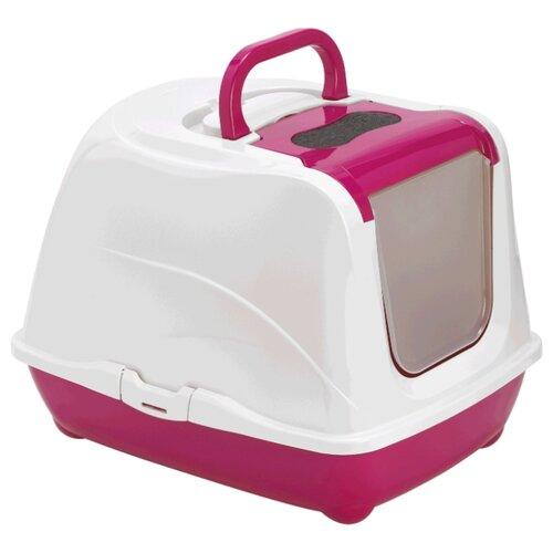 Туалет-домик для кошек Moderna Flip Cat Jumbo 57.6х43.9х41 см ярко-розовый