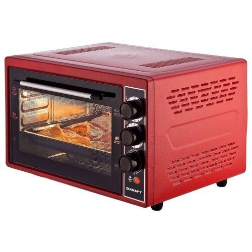 Фото - Мини-печь KRAFT KF-MO 3800 красный мини печь kraft kf mo 4506 красный