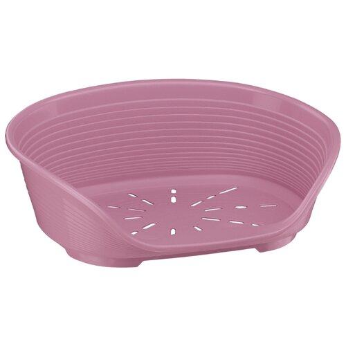 цена на Лежак для собак и кошек Ferplast Siesta DeLuxe 6 70.5х52х23.5 см розовый