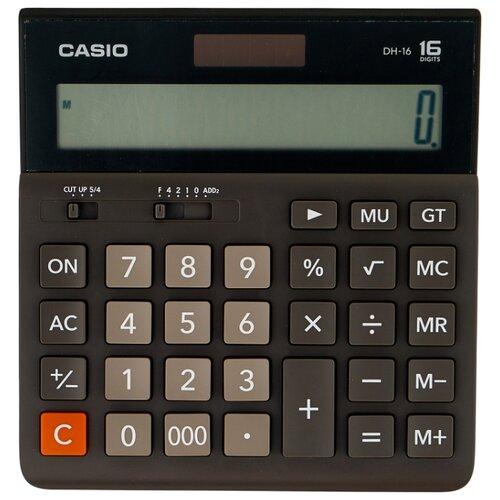 Калькулятор бухгалтерский CASIO DH-16-BK-S черный/серый