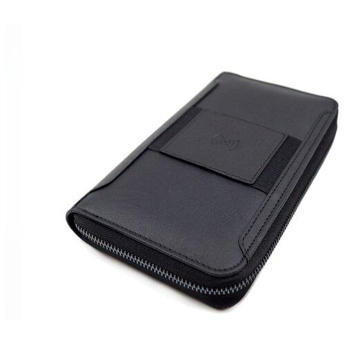 Бумажник с беспроводной зарядкой iWallet - Черный