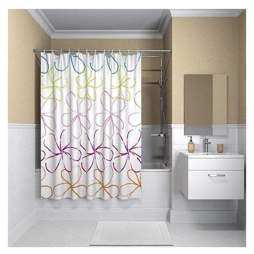 Штора для ванной IDDIS B18P218i11 180x200 штора для ванной iddis basic 180x200 белая b53p218i11