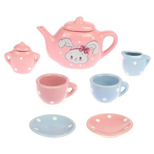 Купить Набор посуды Mary Poppins Зайка 453168 розовый/голубой, Игрушечная еда и посуда