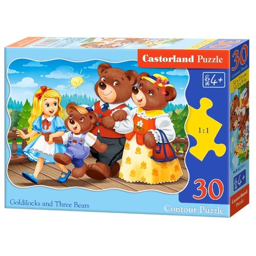 Купить Пазл Castorland Златовласка и Три медведя (B-03716), 30 дет., Пазлы