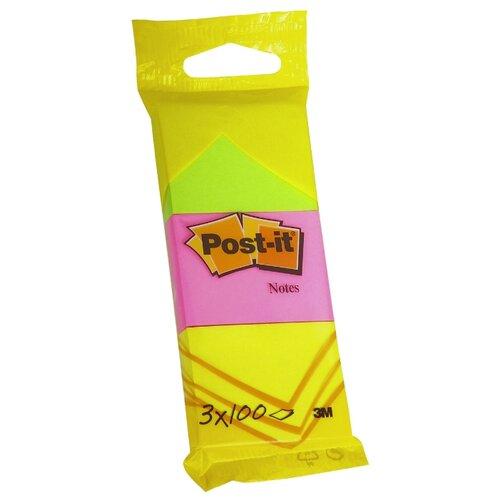 Post-it набор блоков 38х51 мм, 3 блокнота по 100 листов (6812) зеленый/розовый/желтый
