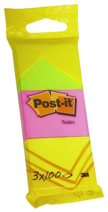 Post-it набор блоков 38х51 мм, 3 блокнота по 100 листов (6812)
