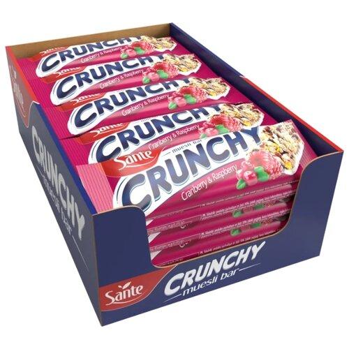 Фото - Злаковый батончик Sante Crunchy с клюквой и малиной в ванильной глазури, 25 шт злаковый батончик corny big cranberry с клюквой 24 шт
