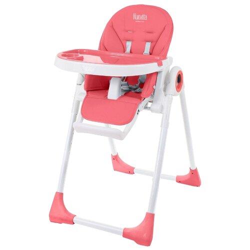 Стульчик для кормления Nuovita Lembo малиновый/белый стульчик для кормления babys piggy розовый