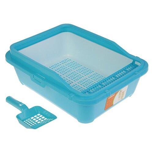 Туалет-лоток для кошек Пижон 3262771\3262772 51х40х18.5 см голубой