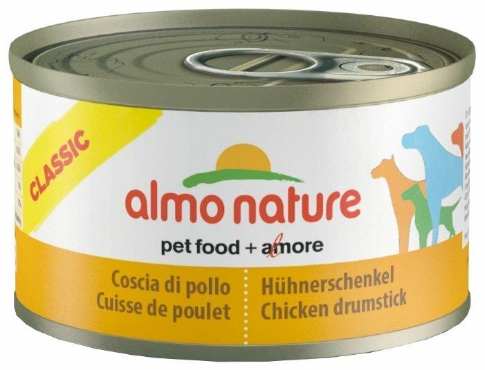 Корм для собак Almo Nature Classic куриные бедрышки 95г