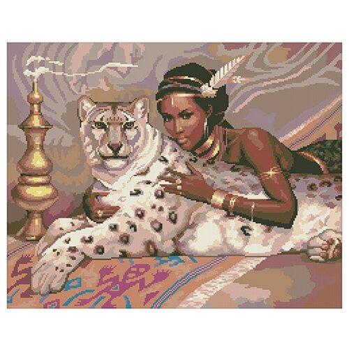 Купить 0057 Набор для вышивания 'Белый леопард' 45х36 см, Nitex, Наборы для вышивания
