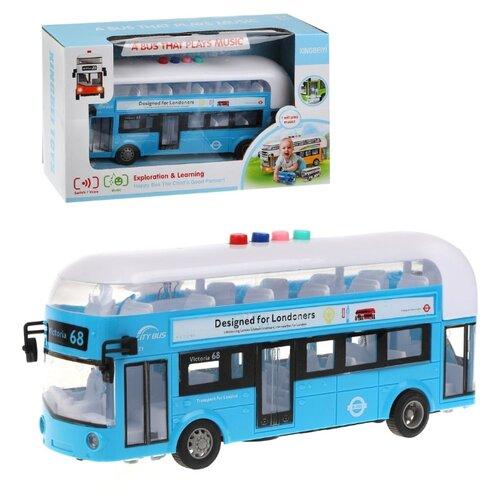 Фото - Автобус инерционный Наша Игрушка свет, звук, коробка (X666-03C) вертолет наша игрушка металлический инерционный свет звук 9809