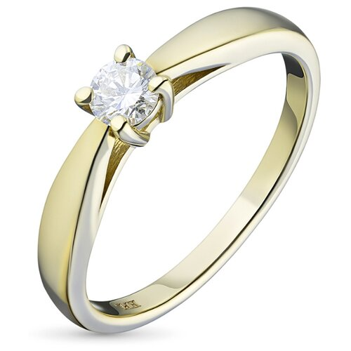 ЭПЛ Якутские Бриллианты Кольцо из желтого золота с бриллиантом э0301кц03163800-16.0-0.247, размер 16