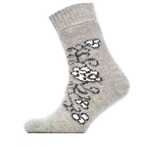 Носки шерстяные Бабушкины носки N6R59-1серый, темно-серый_35-37