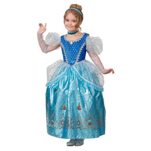 Купить Костюм Батик Принцесса Золушка (1930), голубой, размер 110, Карнавальные костюмы