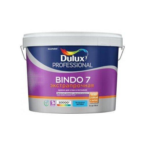 Фото - Краска латексная Dulux Bindo 7 моющаяся матовая бесцветный 9 л краска водно дисперсионная dulux bindo 7 экстрапрочная моющаяся основа вс 1 л
