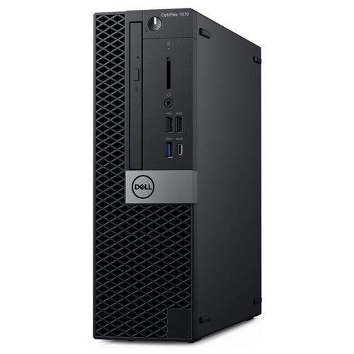 Настольный компьютер DELL Optiplex 7070 SFF (7070-2011) Slim-Desktop/Intel Core i7-9700/8 ГБ/256 ГБ SSD/Intel UHD Graphics 630/Linux черный dell optiplex 3060 7526 sff черный