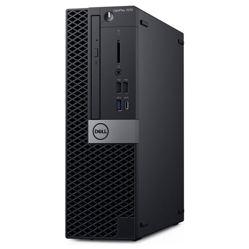 Настольный компьютер DELL Optiplex 7070 SFF (7070-2011) Slim-Desktop/Intel Core i7-9700/8 ГБ/256 ГБ SSD/Intel UHD Graphics 630/Linux черный компьютер dell precision 3630 mt intel core i7 8700 3200 mhz 16gb 256gb ssd dvd rw nvidia geforce gtx 1080 10gb dos