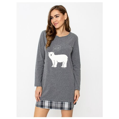 Сорочка Arnetta размер M темно-серый меланж фото